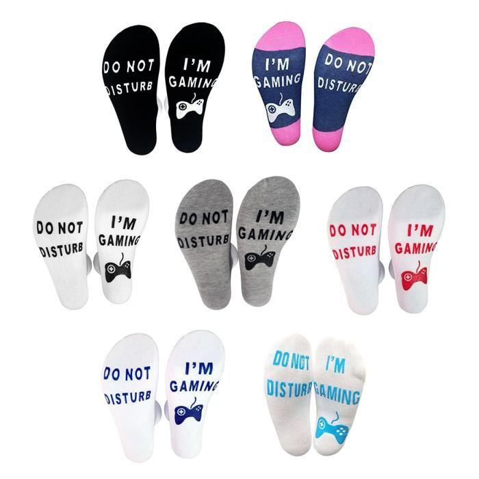 7 paires chaussettes tube moyen lettre de style décontracté universel imprimé coton respirant élastique chaussettes hommes / femmes