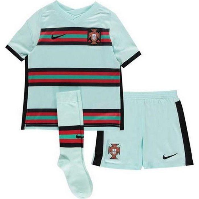 Ensemble Complet Mini-Kit Officiel Enfant Nike Equipe du Portugal de Football Extérieur Euro 2020