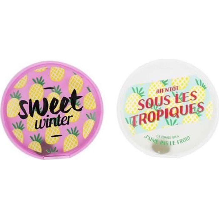 Lot de 2 mini chaufferette bouillotte chauffe main réutilisable sweet summer !