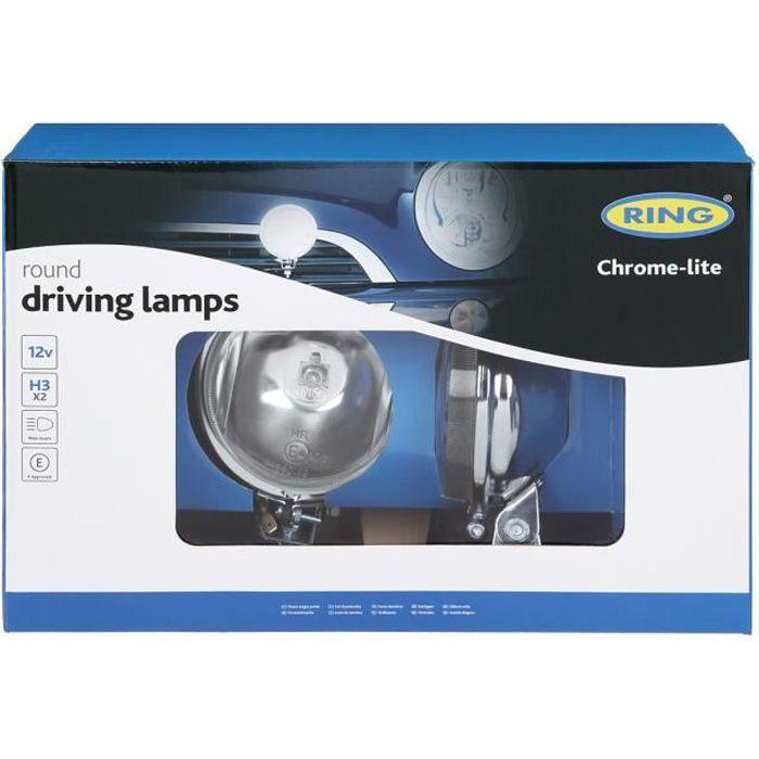 2 projecteurs longue portée Chrome Lite RING