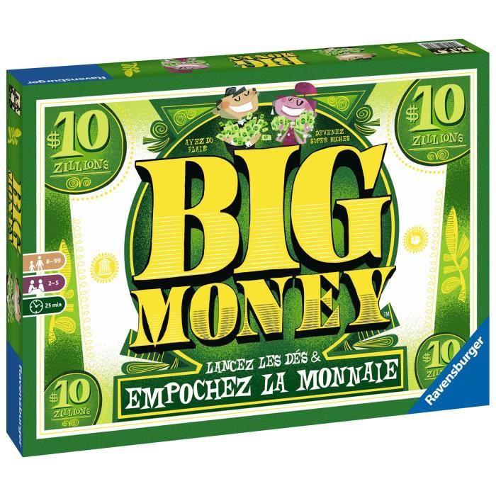 BIG MONEY Jeu de société Ravensburger - 2 à 5 joueurs - 8 ans et +
