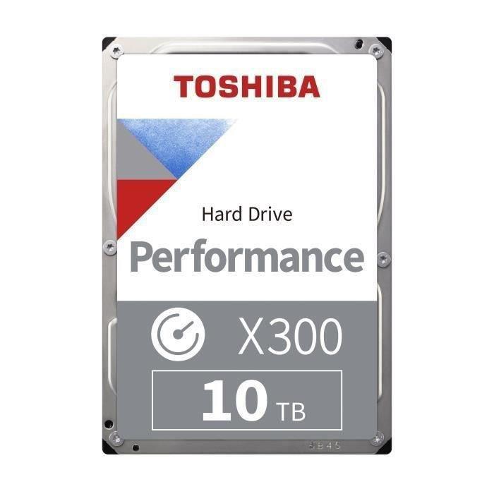 TOSHIBA - Disque dur Interne - X300 - 10To - 7200 tr/min - 3.5- Boite Retail (HDWR11AEZSTA)