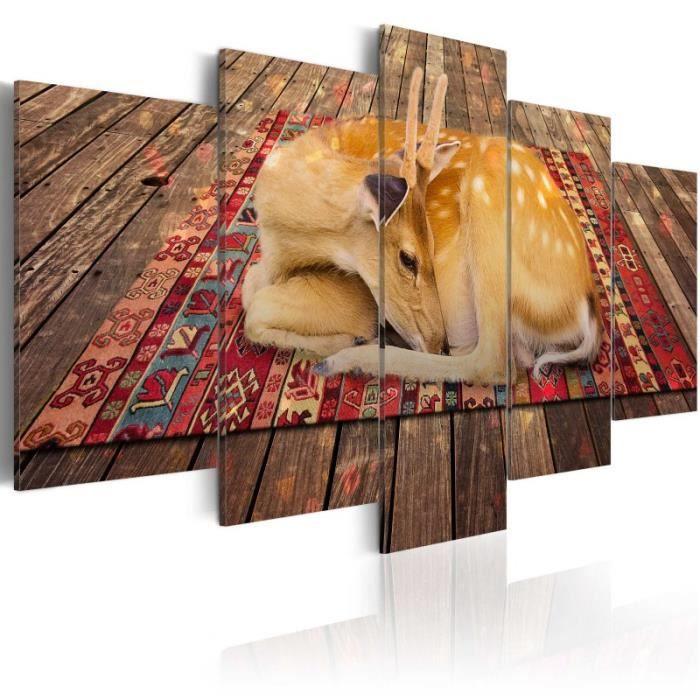 TABLEAU - TOILE Tableau - Domestication - 5 pieces - Size: 200x100