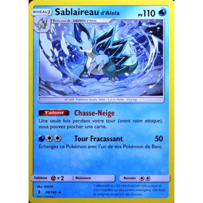 Carte Pokemon 20 145 Sablaireau D Alola 110 Pv Sl2 Soleil Et Lune Gardiens Ascendants Neuf Fr Achat Vente Carte A Collectionner Cdiscount
