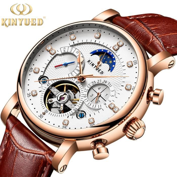 MONTRE KINYUED Suisse Montre Homme - Luxe Marque - Automa