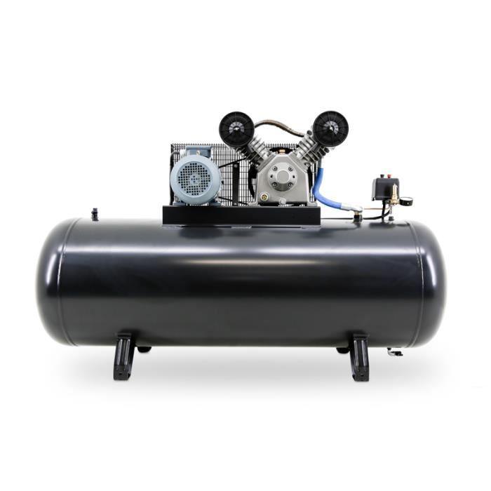 COMPRESSEUR Compresseur 500 litres 7,5 cv 380Vhorizontal