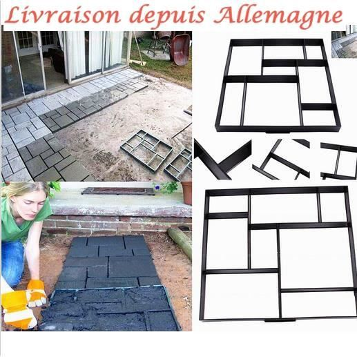 50x50cm carrelage moule pavage all e patio b ton chemin de marche maker jardin achat vente. Black Bedroom Furniture Sets. Home Design Ideas