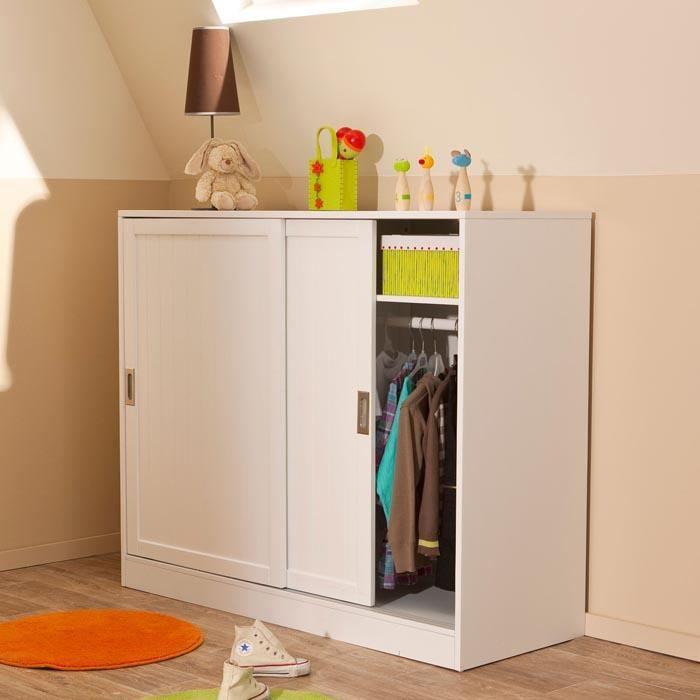 ARMOIRE SOUS PENTE BLANC MORGAN - Achat / Vente armoire de chambre ARMOIRE SOUS PENTE BLANC ...