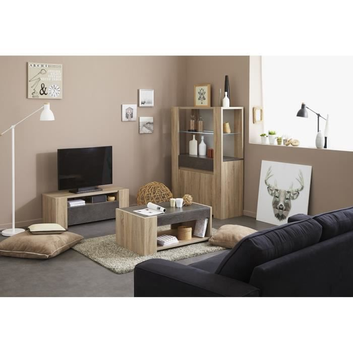 Leeds brut ensemble salon marron achat vente salon complet cdiscount - Ensemble salon sejour ...
