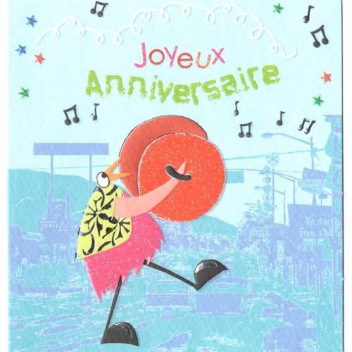 Carte Joyeux Anniversaire Bleue Achat Vente Carte Correspondance Carte Joyeux Anniversaire B Cdiscount
