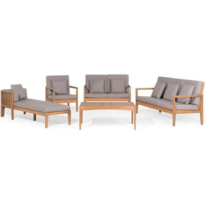 Ensemble de jardin - Salon en bois d acacia - Salon de terrasse - Pataja