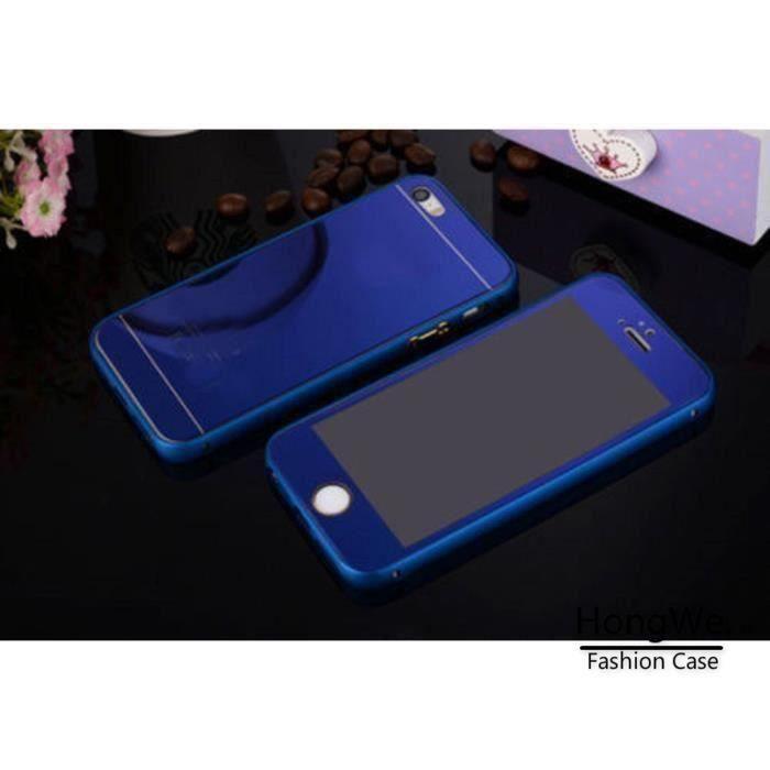 coque iphone 5 5s miroir bleu electrique effet vit