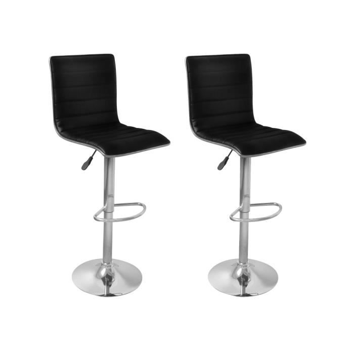 2pcs tabouret de bar si ge ergonomique en cuir artificiel. Black Bedroom Furniture Sets. Home Design Ideas