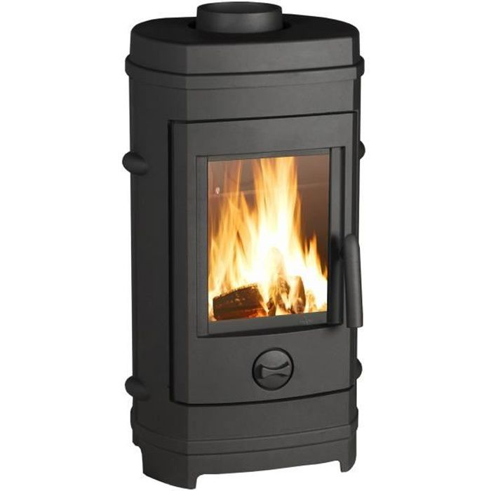 Invicta Remilly 7 Kw Poele A Bois Flamme Verte 7 Buches 34 Cm