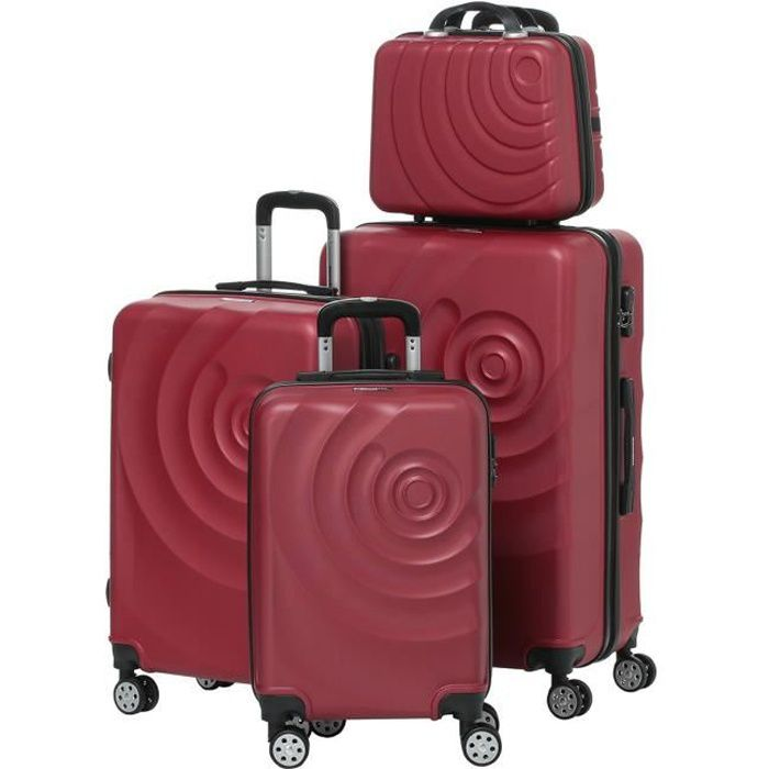 SET DE VALISES MANOUKIAN Set de 3 Valises Chariot + Vanity ABS 4