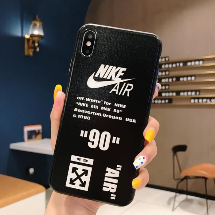coque iphone 8 7 nike off white noir coque compati