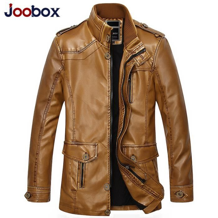 2015 hiver homme en pu v tements de cuir manteau achat vente blouson cdiscount. Black Bedroom Furniture Sets. Home Design Ideas