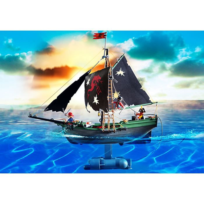 playmobil 5238 bateau pirates avec moteur sou achat. Black Bedroom Furniture Sets. Home Design Ideas