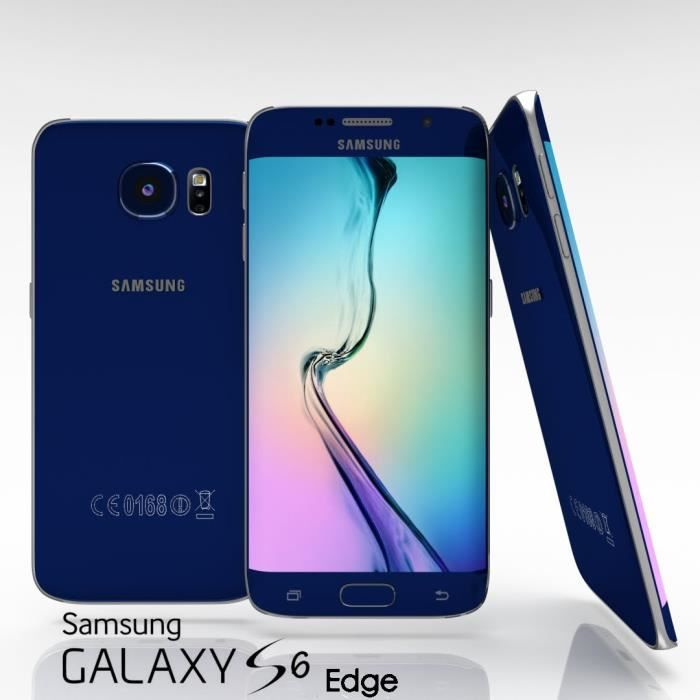 samsung galaxy s6 edge 32gb black sapphire achat. Black Bedroom Furniture Sets. Home Design Ideas