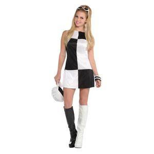 DÉGUISEMENT - PANOPLIE AMSCAN Mod 60 ' s Costume Femme - Robe + Chapeau +