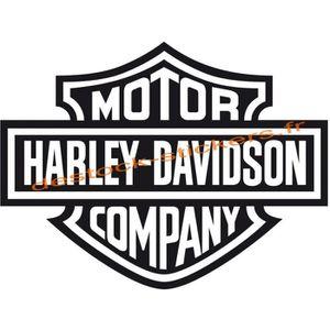 Adesivi Compulsivi Lot de 2 stickers logo Harley Davidson Pour r/éservoir casque et surfaces lisses.
