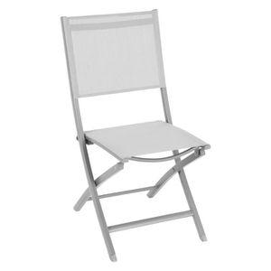 FAUTEUIL JARDIN  Chaise de jardin pliante Essentia - Gris galet et