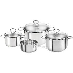 Berndes alu induction Lot de casserole 7 pièces Cuisinier Manche Casserole anti-adhérent opercule