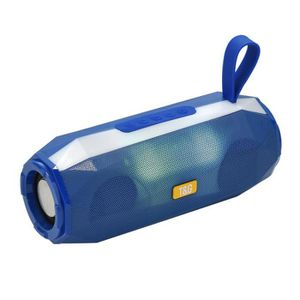 ENCEINTE NOMADE Enceinte Haut parleur bluetooth lumineux bleu disc