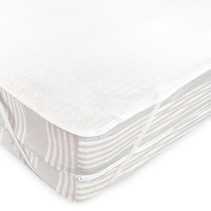 Prot/ège Matelas imperm/éable 160x210 cm Bonnet 40cm Arnon Molleton 100/% Coton contrecoll/é polyur/éthane