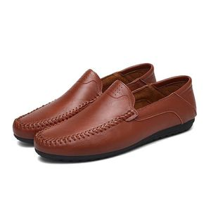 Mocassin Hommes Cuir Loafer Detente Casual Chaussure DTG-XZ089Orange38 UOQtk