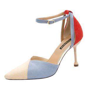 ESCARPIN Mode de Pointu Chaussures Toe Mesdames Sandales de