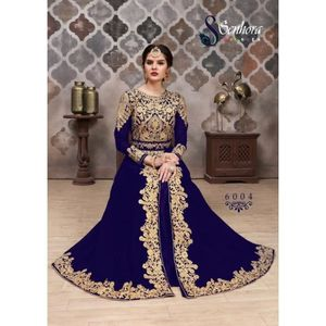 ROBE Robe indienne Aroma Bleu Sari caftan takchita brod
