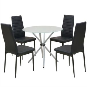 TABLE DE CUISINE  Ensemble de table et chaise de salle à manger 5 pc