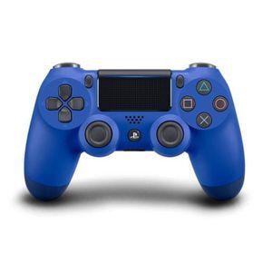 MANETTE JEUX VIDÉO Manette PS4 DualShock 4 Noire V2 (bleu)