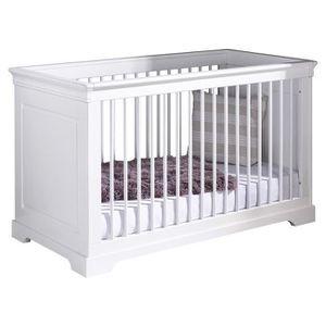 LIT BÉBÉ Pack lit bébé évolutif Lila avec matelas  Blanc