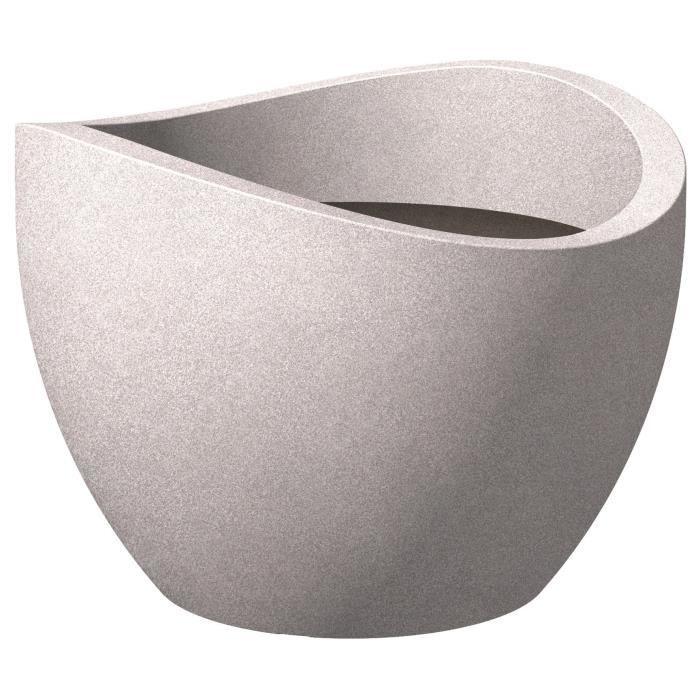 JARDINIÈRE - BAC A FLEUR SCHEURICH Pot en plastique rotomoulé Wave Globe 25