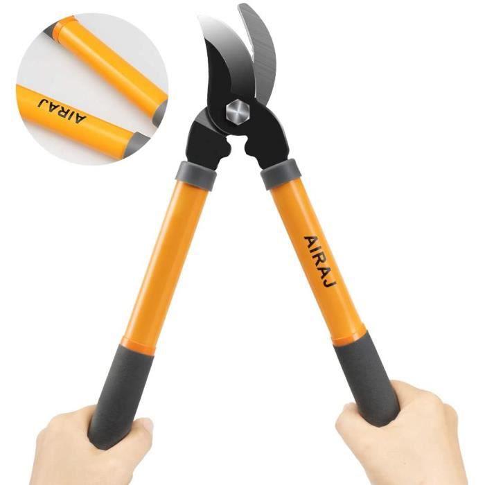 AIRAJ Coupe-branches38.5CM,Utilisées pour couper des branches de moins de 30 mm,Lame tranchante,Légère,pratique,Outil de poche