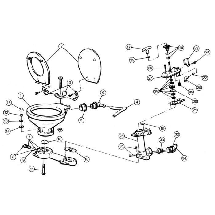 Joints pompe (29090-120-0000) - Ensemble joint tige jusqu'à 1997- NC