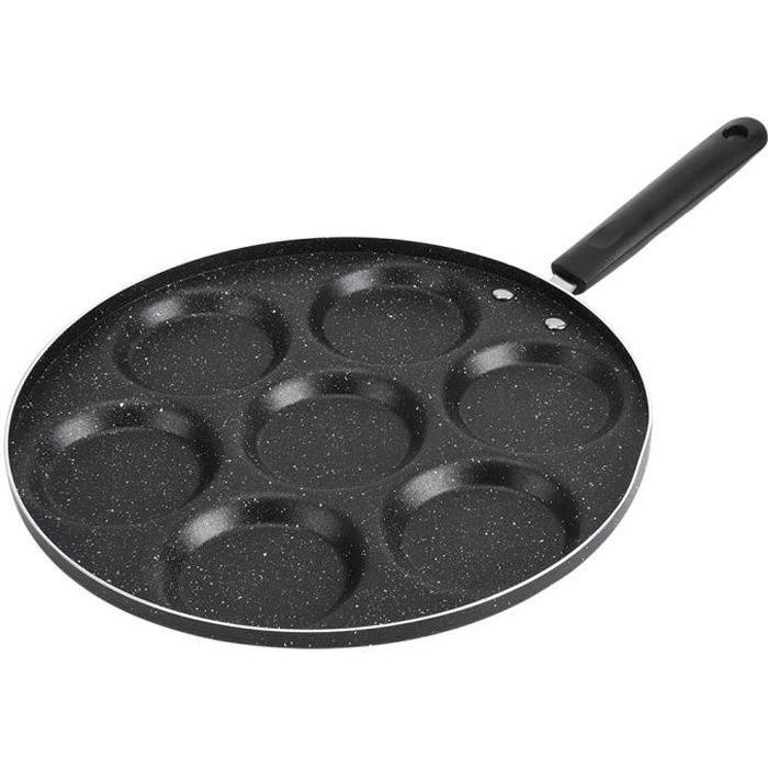 7 trous poêle à frire antiadhésive oeufs frits ustensile de cuisine -JIA