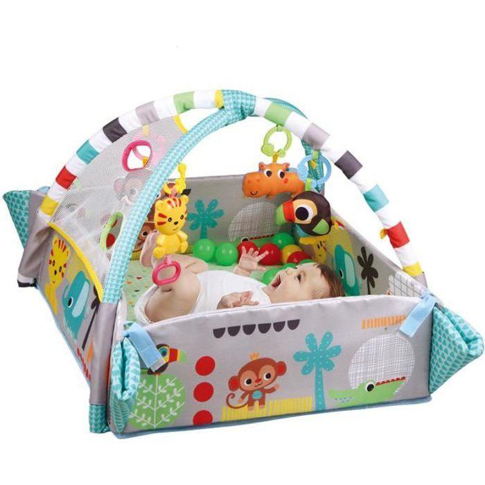 Tapis de jeu avec des jouets,Tapis D'éveil Bébé,tapis de jeu de gymnastique,Tapis de Sécurité pour Bébé,Vert