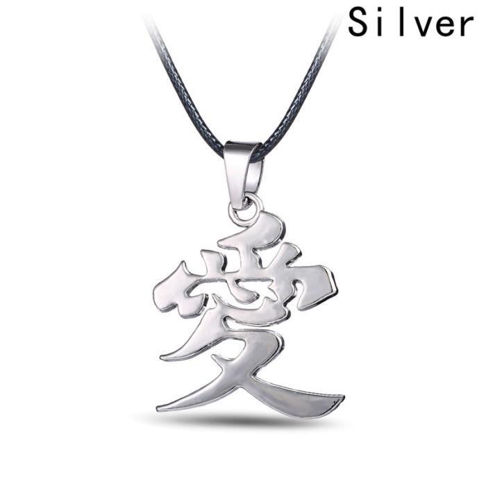 Collier RGHMW collier naruto, animation japonaise naruto shippuden gaara symbole pendentif collier pour les adolescents et les fans