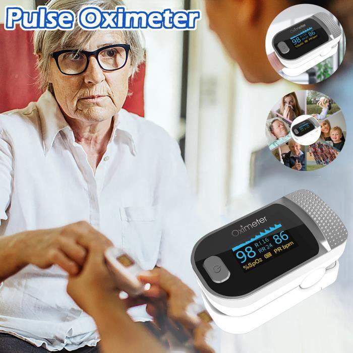 Oxymètre d'agrafe de doigt de fréquence cardiaque de doigt de moniteur de grand écran de haute définition