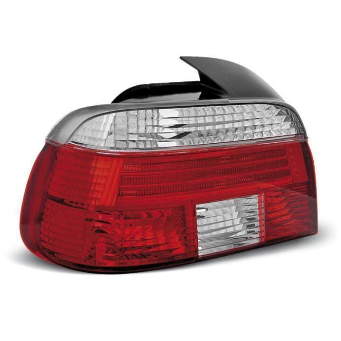 Paire de feux arriere BMW serie 5 E39 berline 95-00 rouge blanc (M49)