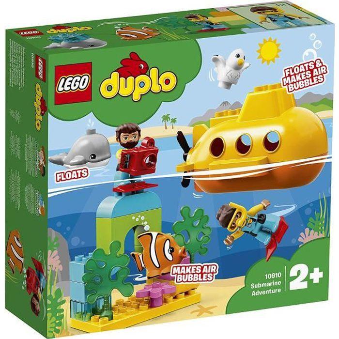 LEGO DUPLO Wild Animals - L'aventure en sous-marin, Jouet pour Tout-Petits Fille et Garçon dès 2 Ans, 24 Pièces de Construction