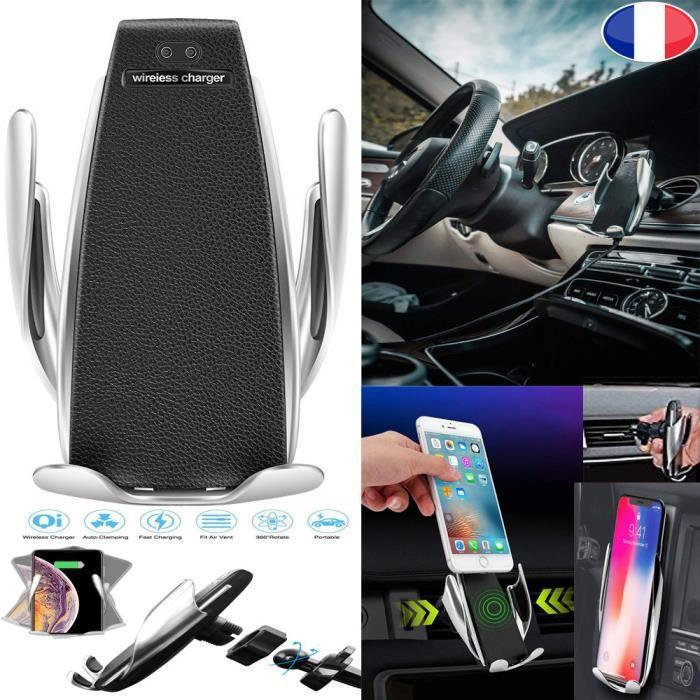 PRISKY® Chargeur Induction Voiture Sans Fil Rapide Qi, Support de téléphone Chargeur Sans Fil Détection Intelligente pour ZTE 2