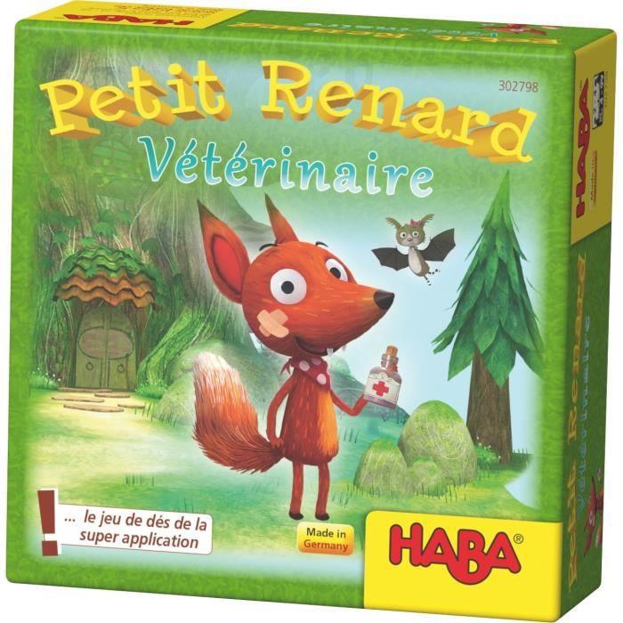 HABA - Petit Renard Vétérinaire - Jeu classique de dés sur les animaux - 4 ans et plus, 302798
