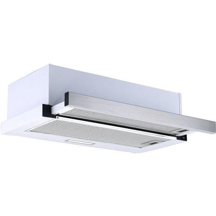 hotte aspirante respekta hotte écran plat 60 cm hotte sous plan inox LED