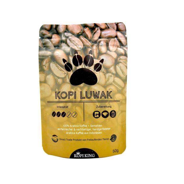Kopi Luwak 100% Arabica café moulu 50g (café de chats de la faune)