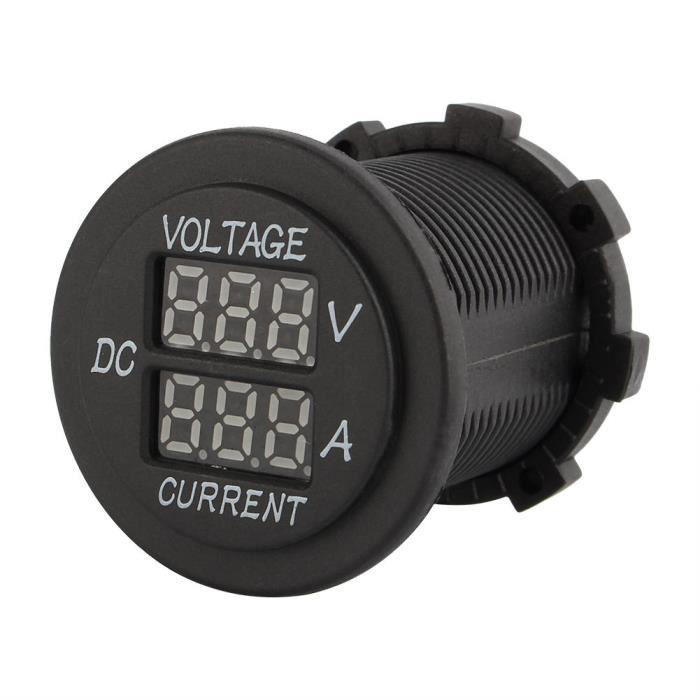 Drfeify Voltmètre Ampèremètre Voiture moto DC 12-24V double LED voltmètre numérique ampèremètre ampèremètre voltmètre