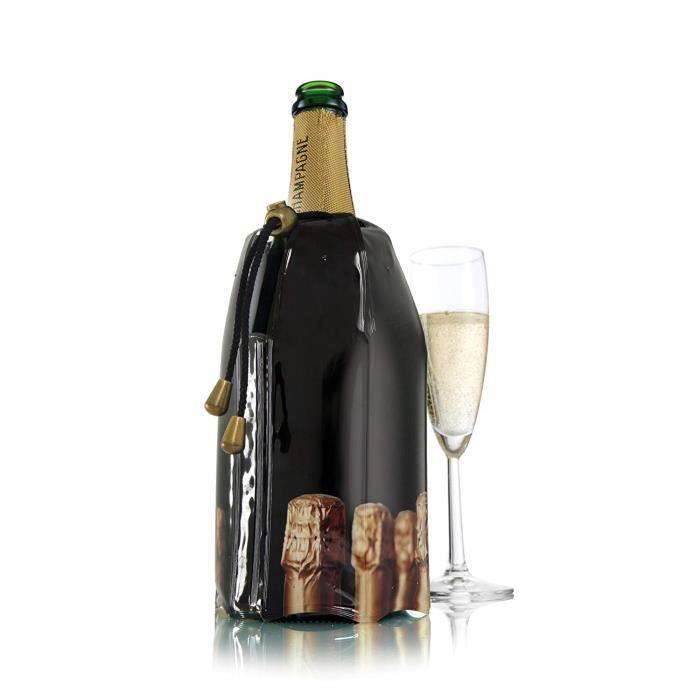 Vacu Vin 38854606 Active Cooler Refroidisseur de Champagne Motif Bouteille Nylon Multicolore 18 x 12 x 12 cm